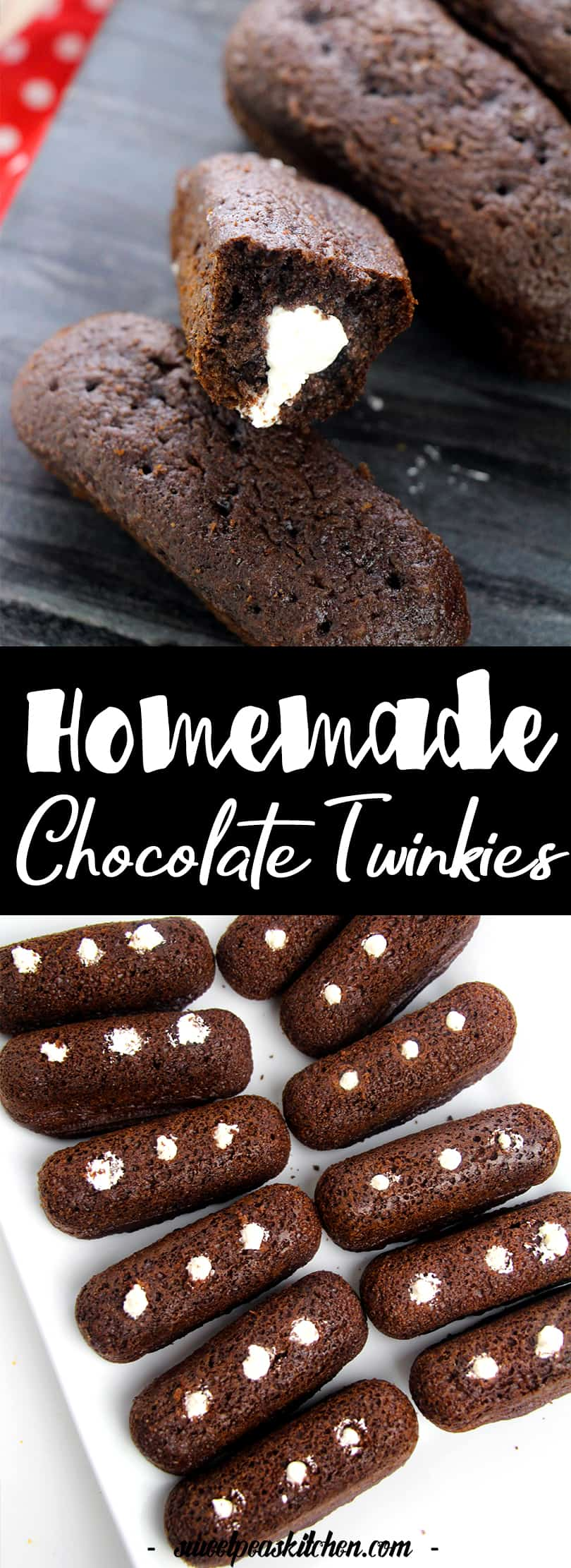 Chocolate Homemade Twinkie Recipe with Cream Filling