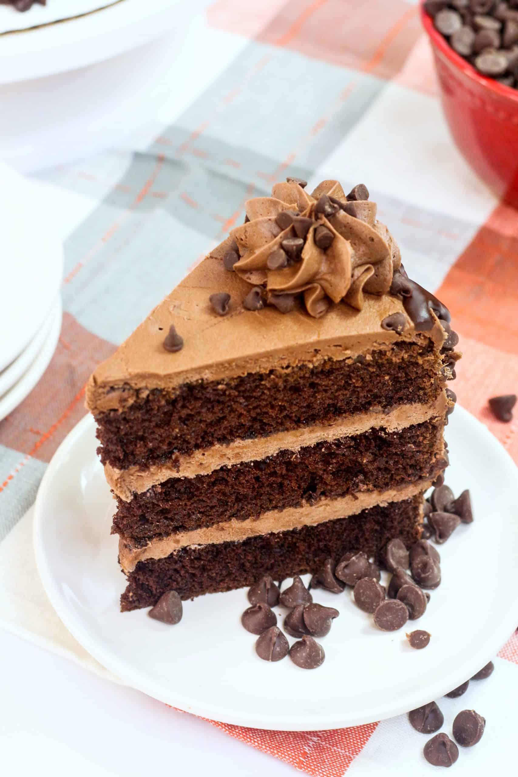 chocolate blackout cake on a plate