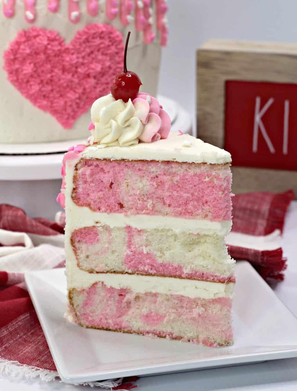 Valentines Day ice cream cake