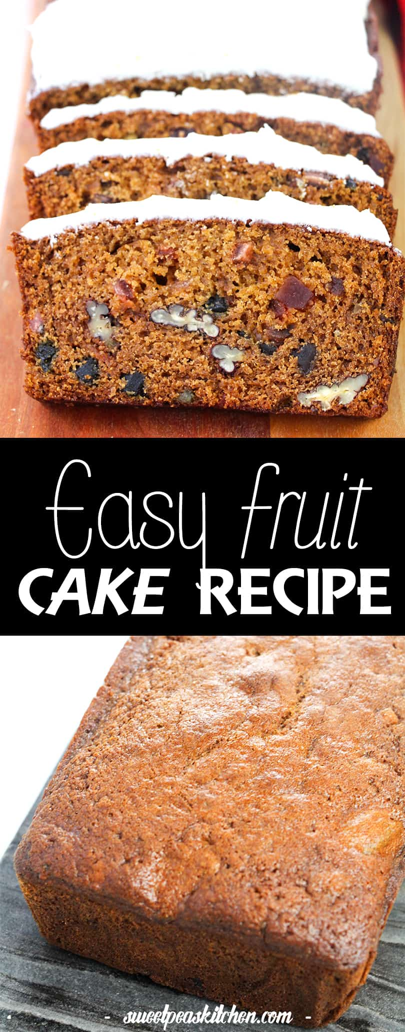 Classic Easy Fruit Cake Recipe With Simple Icing Recipe