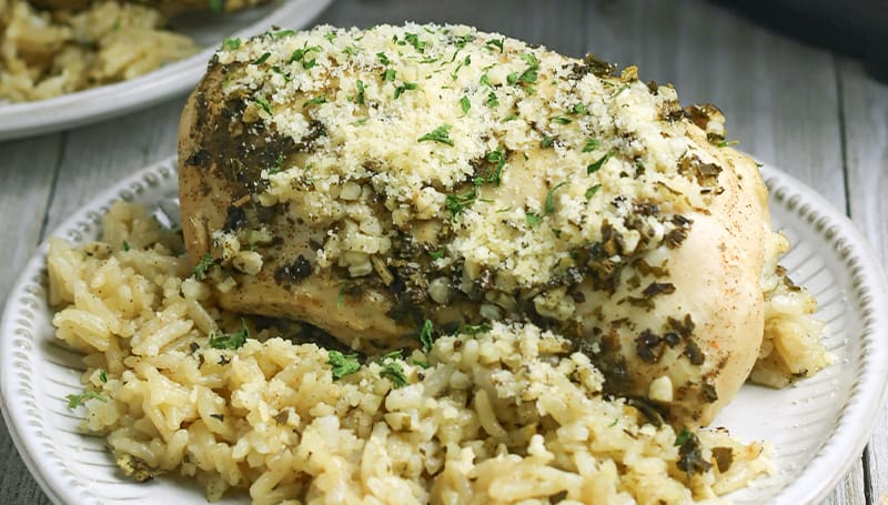 Instant Pot Garlic Herb Chicken and Rice