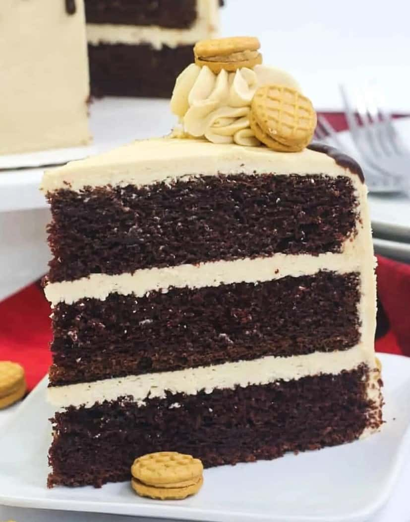 Nutter Butter Chocolate Peanut Butter Cake