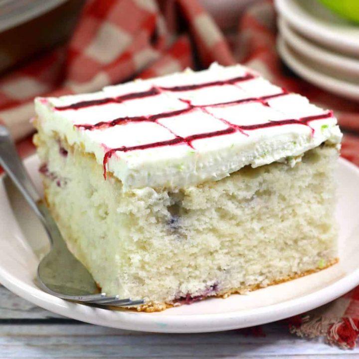 Blackberry Margarita Sheet Cake