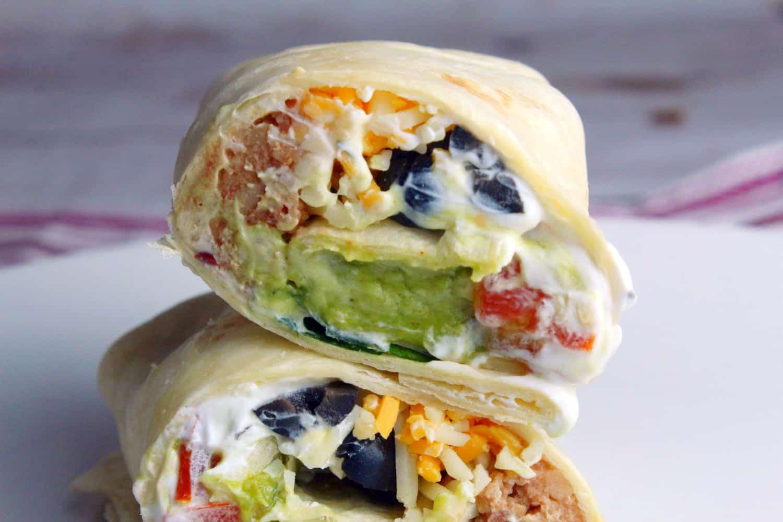 7 Layer Burrito, Burrito Recipe, easy layered burrito, layered burrito recipe