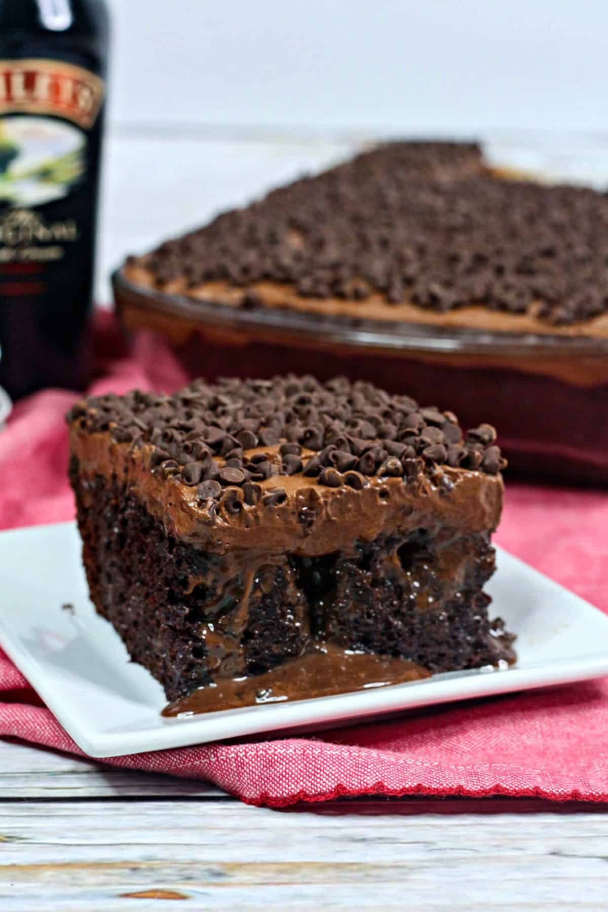 Bailey's chocolate poke cake, Bailey's Irish Cream poke cake, Bailey's cake