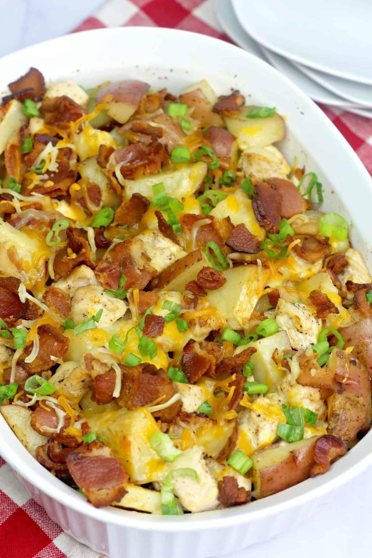 Loadchicken potato casserole ,chicken and potato casserole , chicken potato bake ,boneless chicken recipe