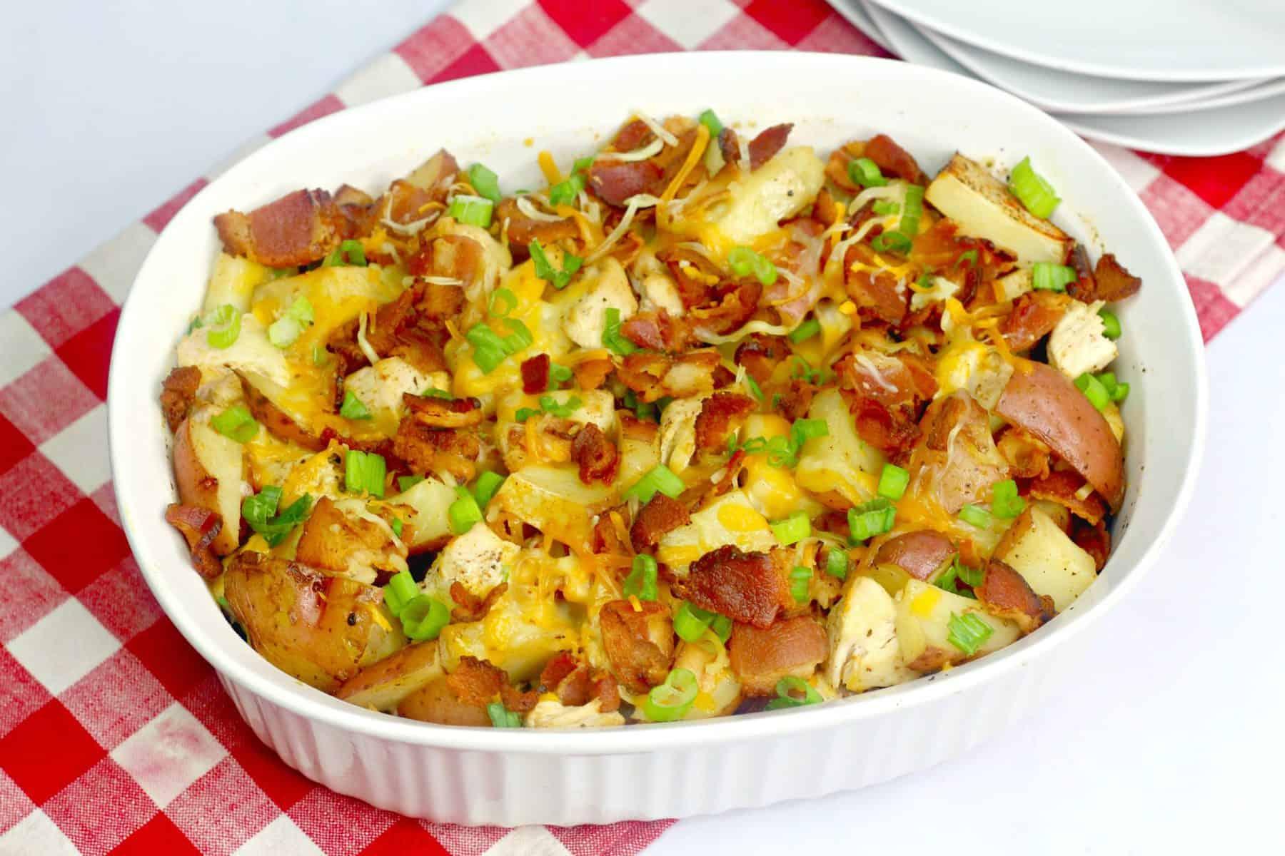 Loaded Baked Potato Chicken Casserole ,chicken potato casserole ,chicken and potato casserole ,boneless chicken recipe