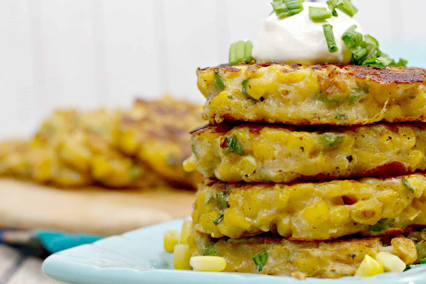 cheesy corn fritters, fritters
