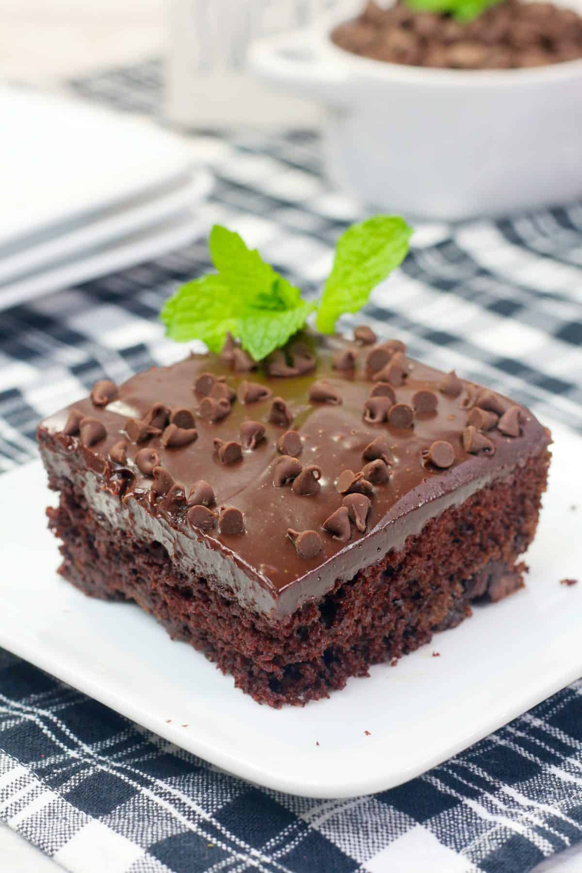 Chocolate Ganache Frosting, Chocolate Mint Cake