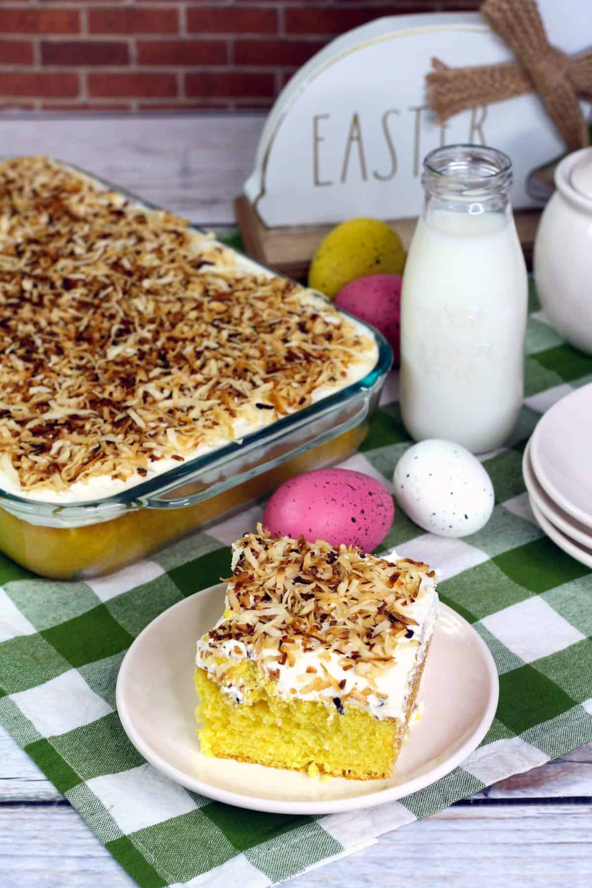 Coconut Cake, Easy Easter Coconut Cake Recipe