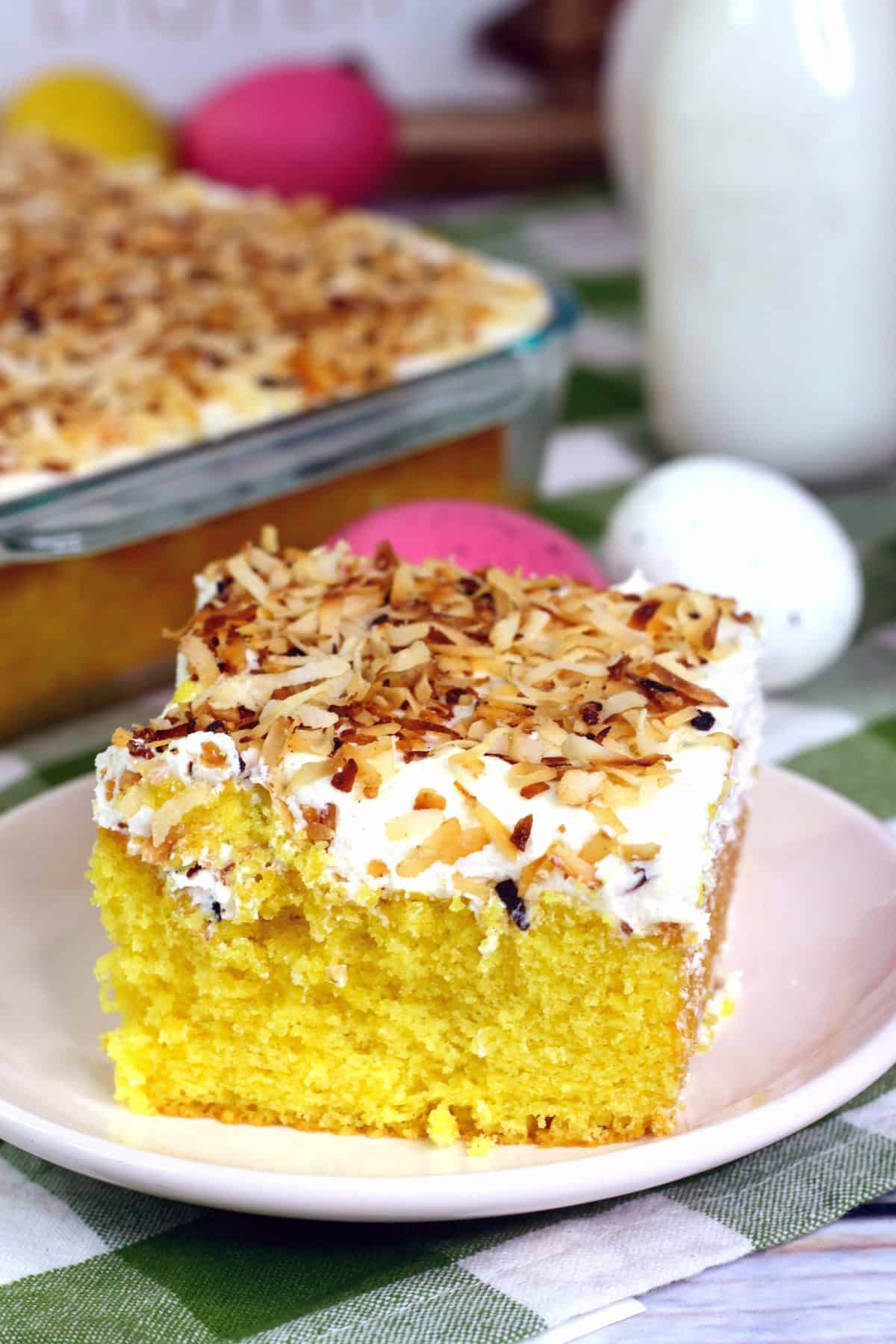Easter Coconut Cake, Coconut sheet