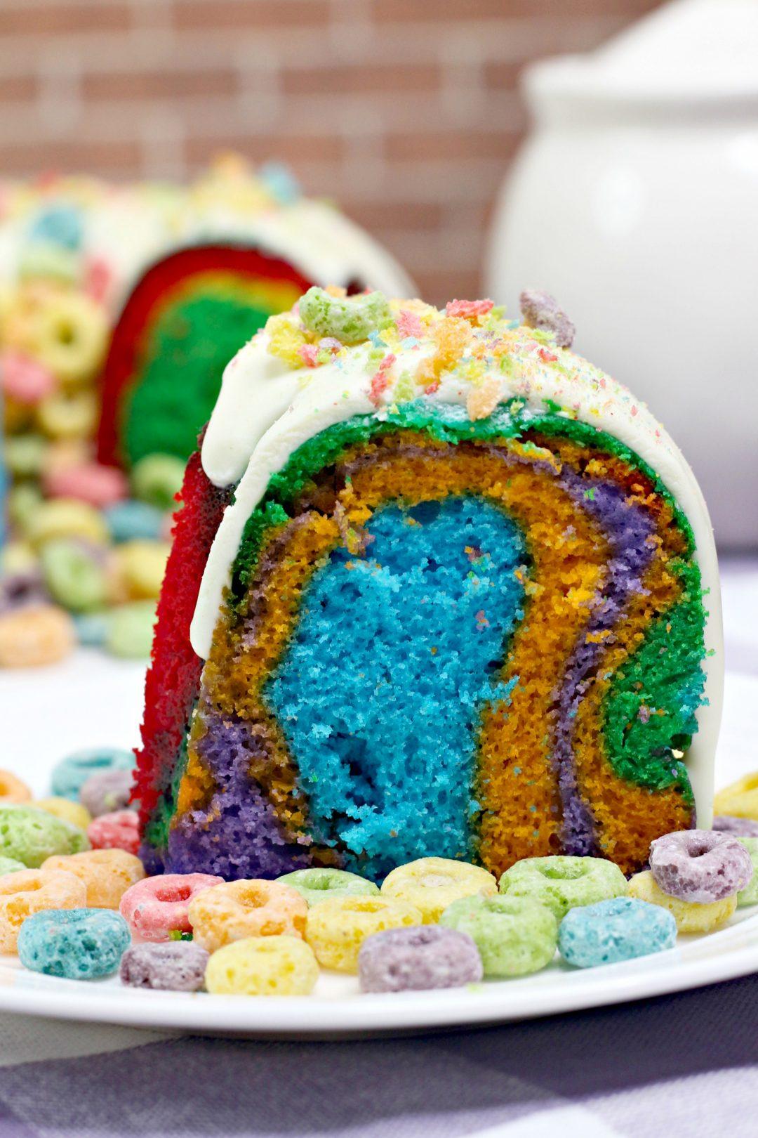 Fruit Loop bundt cake, Instant pot Fruit Loop bundt cake