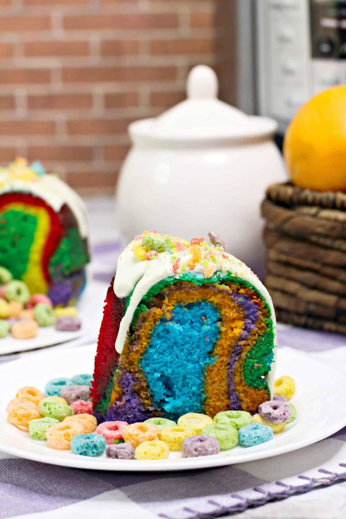 Instant pot Fruit Loop bundt cake, instant pot bundt cake