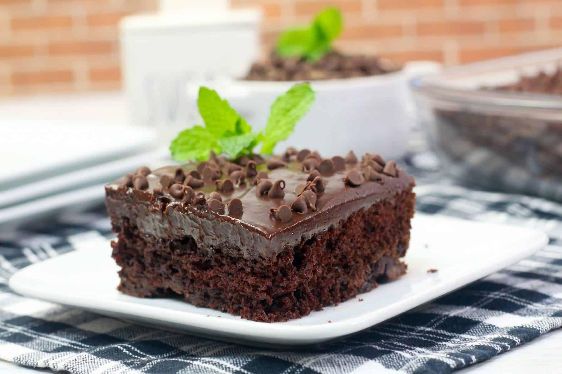 Mint Texas Trash Cake Recipe, Chocolate Mint Cake
