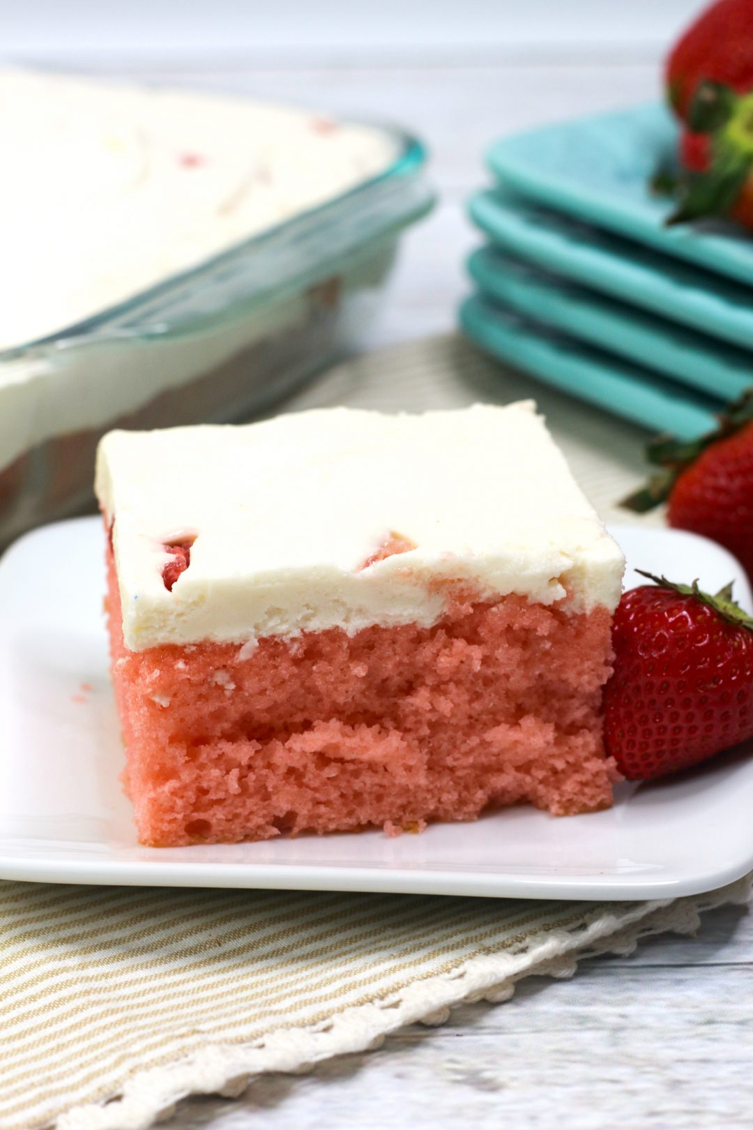 Strawberry Sheet Cake Recipe, easy strawberry sheet cake
