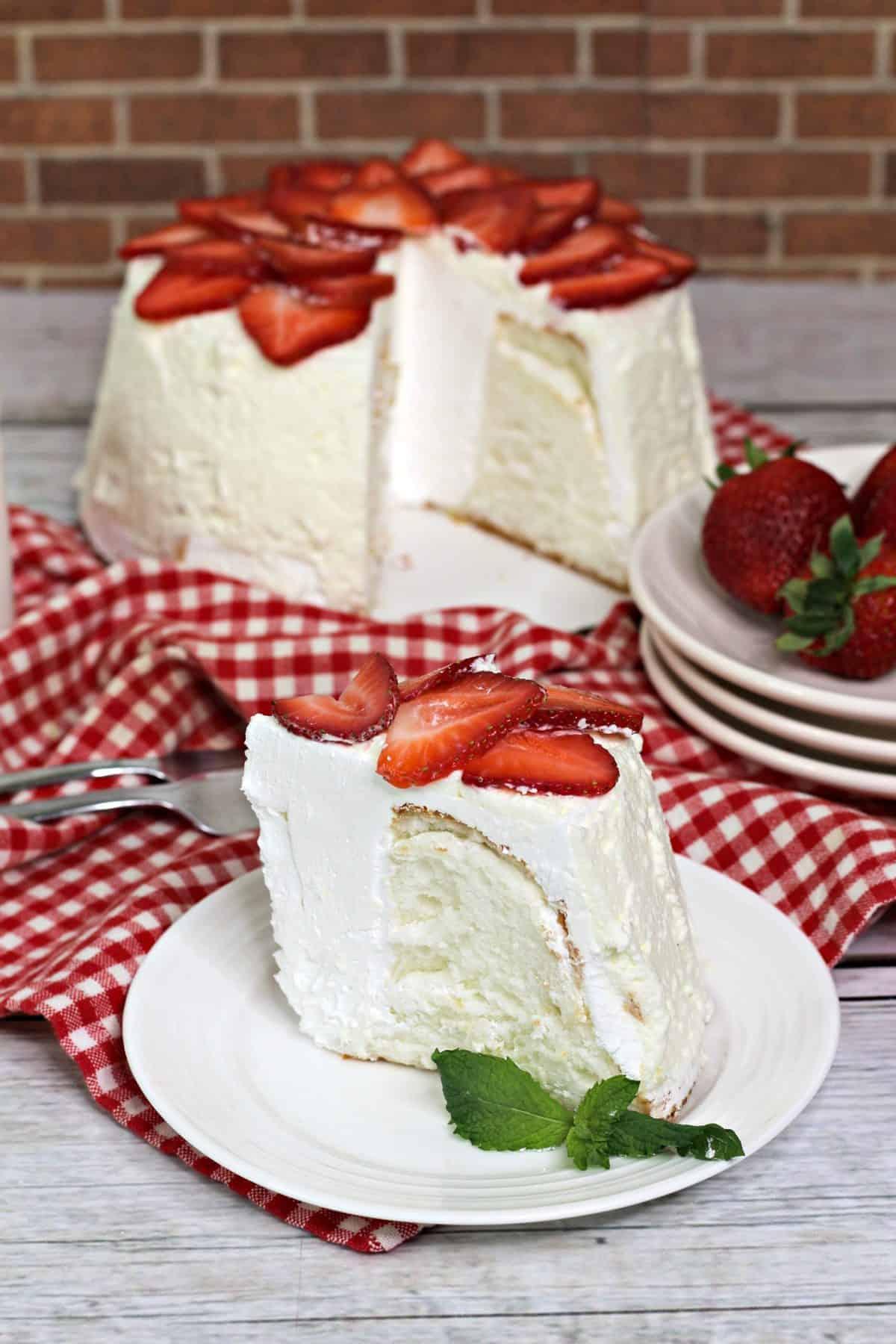 angel food cake, easy angel food cake