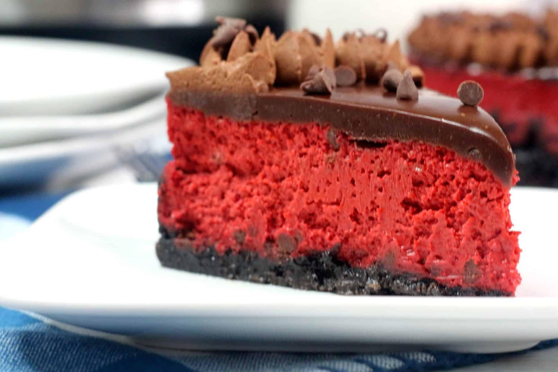 best cheesecake recipe, red velvet oreo cheesecake