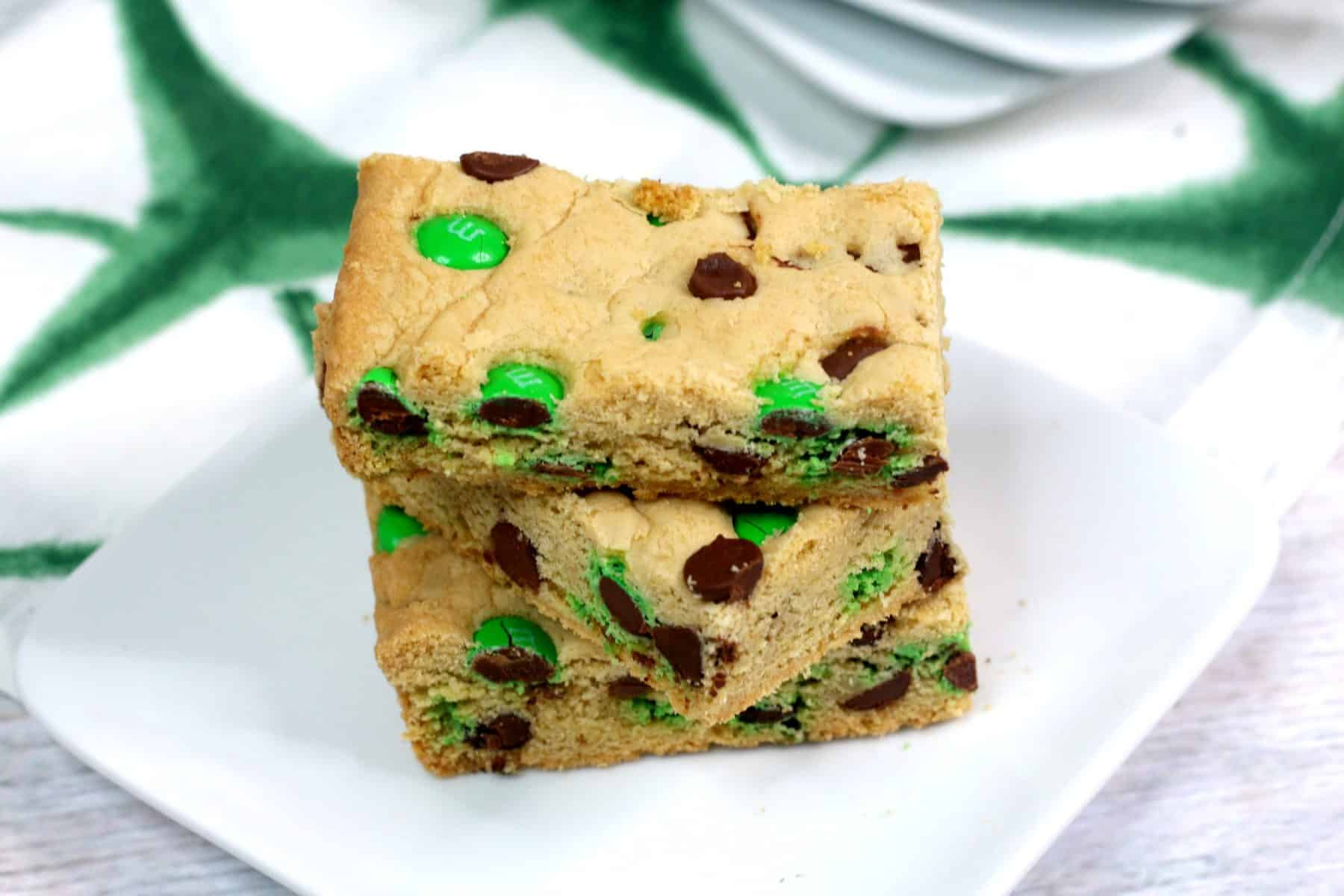 M&M Cookie Bars, m and m cookie bars