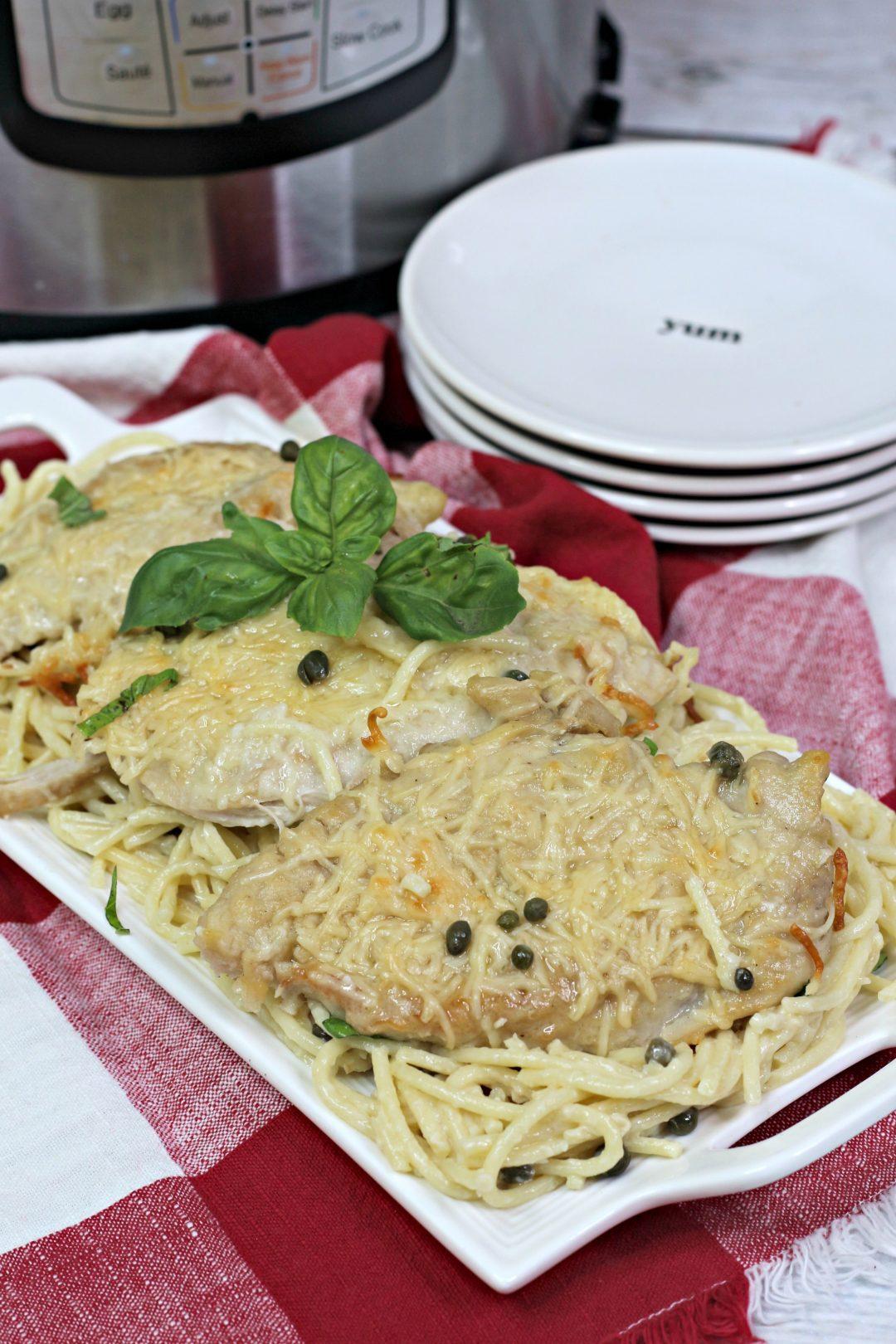 instant pot chicken piccata, creamy lemon chicken piccata