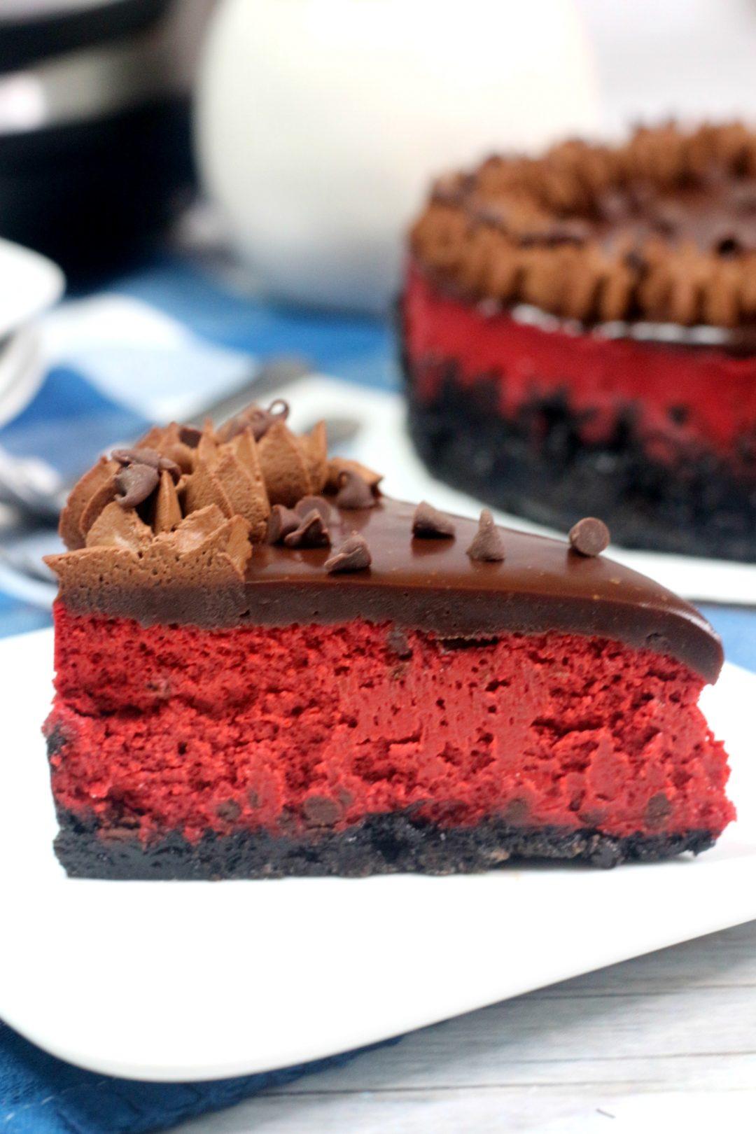 red velvet oreo cheesecake, pressure cooker red velvet cheesecake