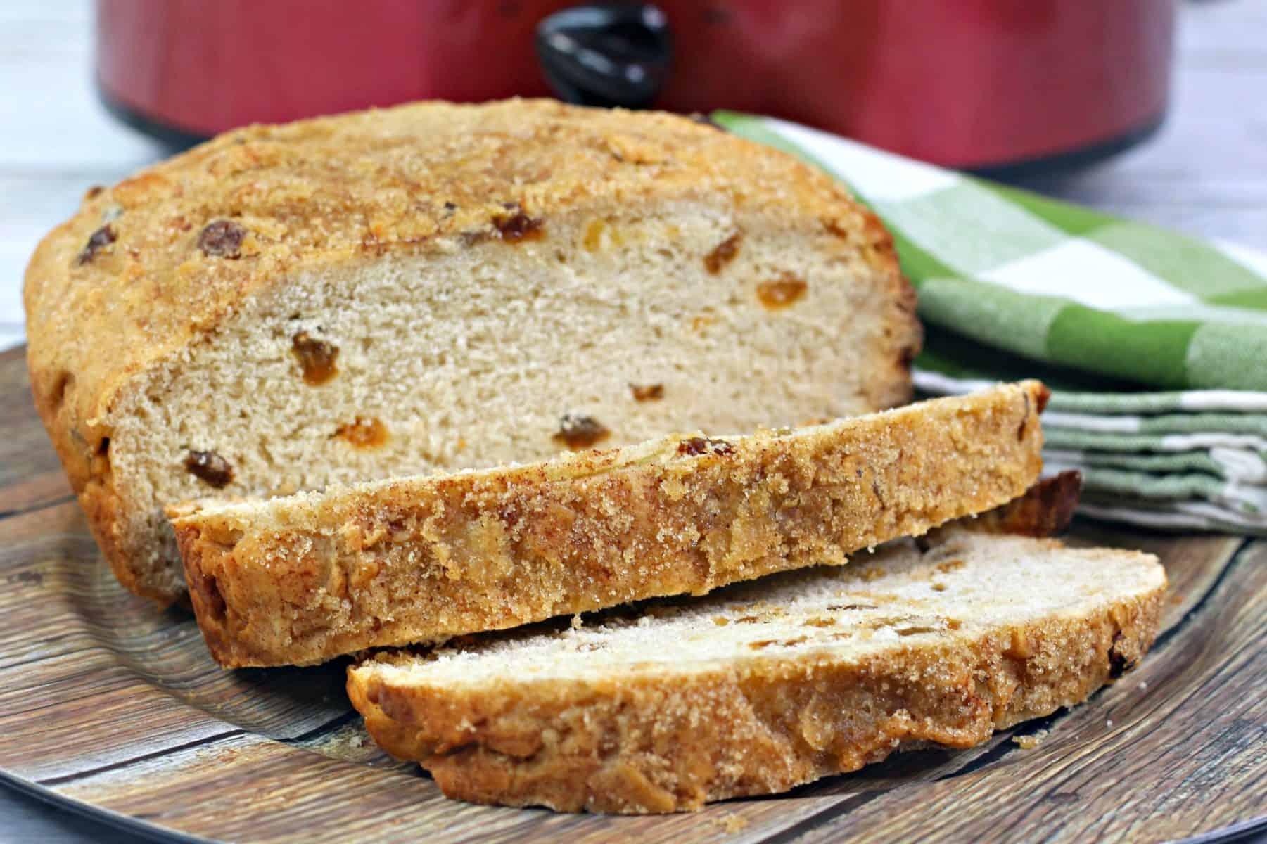 cinnamon raisin bread, slow cooker yeast bread recipe