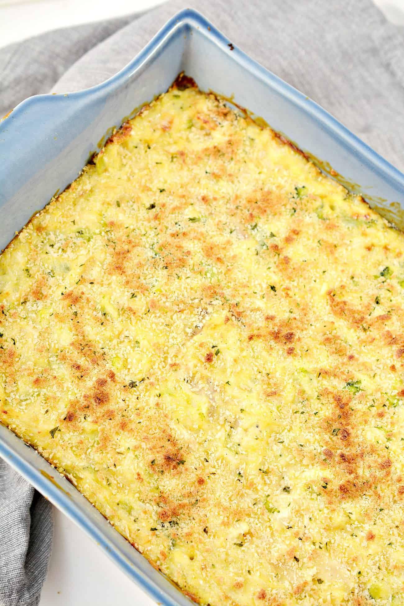 Broccoli, Rice, Chicken and Cheese Casserole