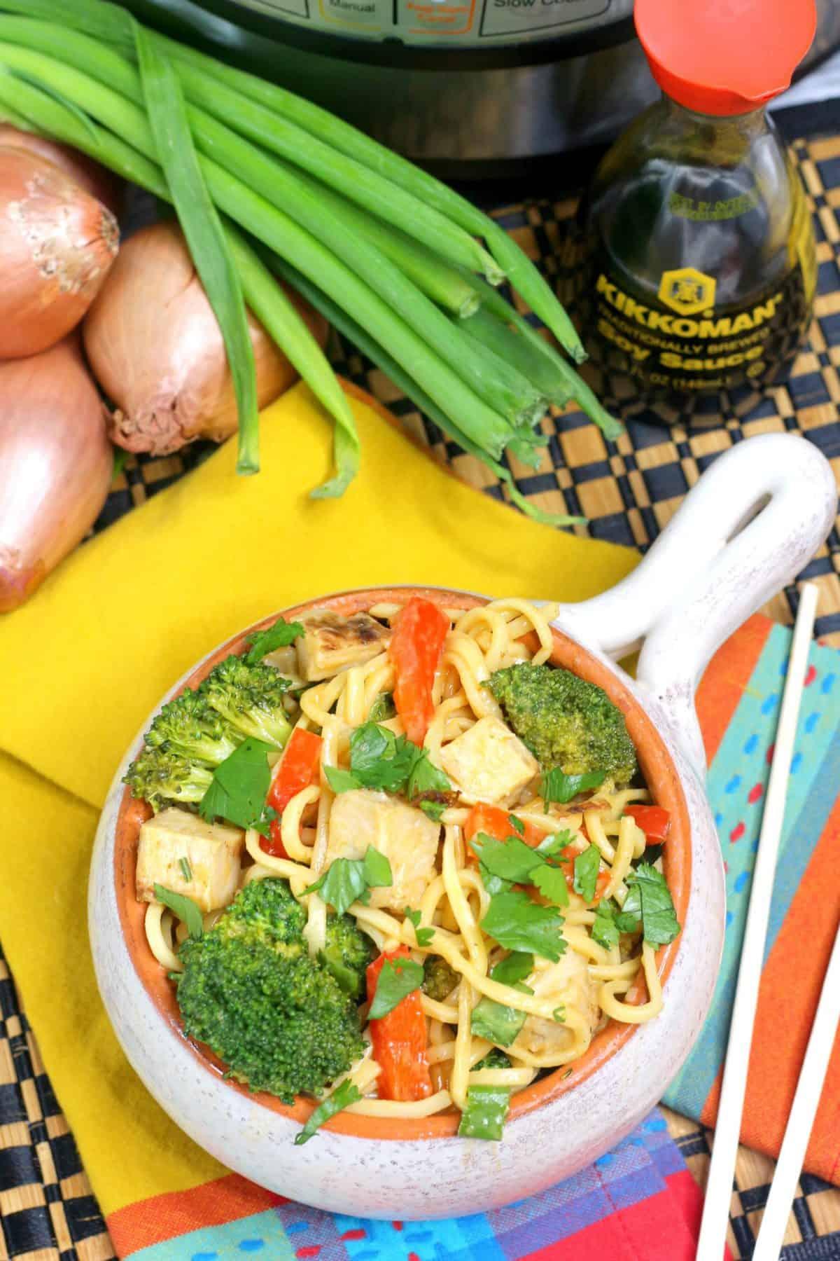 Chicken Lo Mein, Pressure cooker lo mein