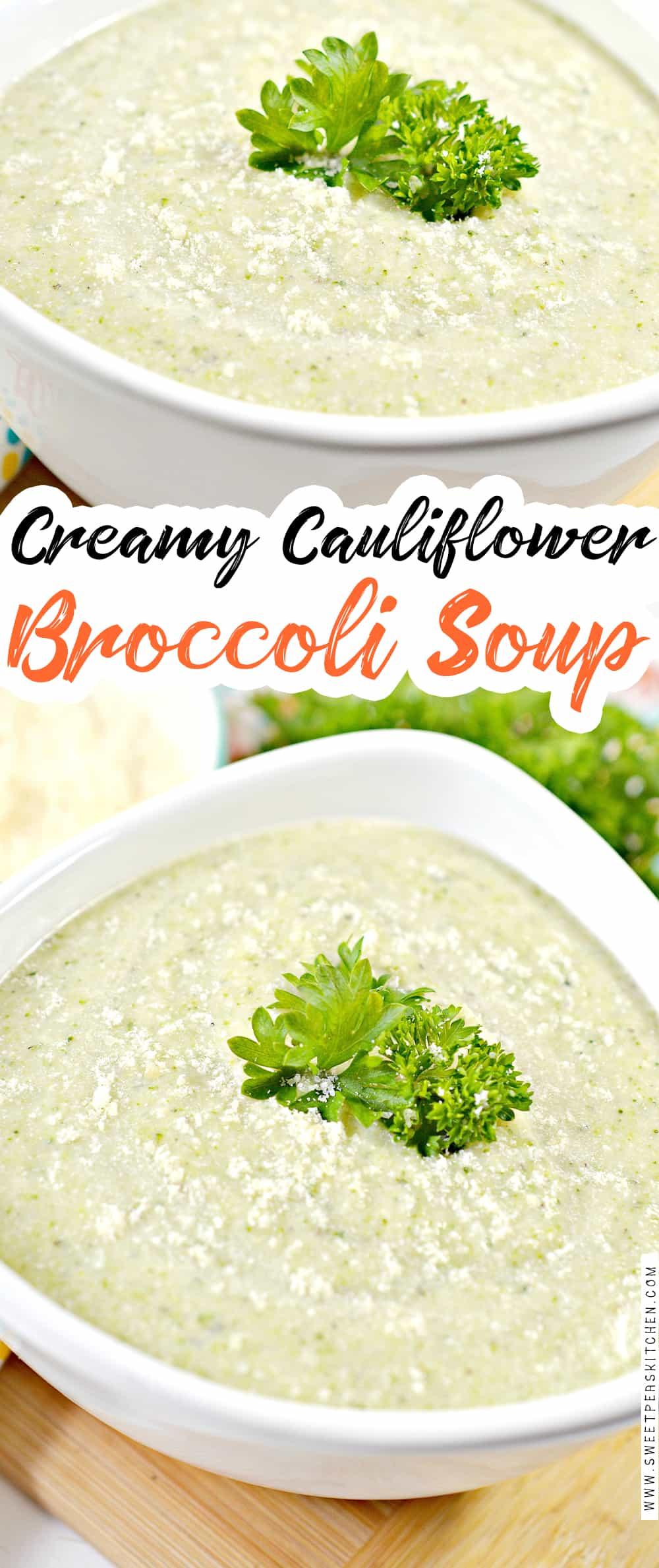 Creamy Cauliflower and Broccoli Soup