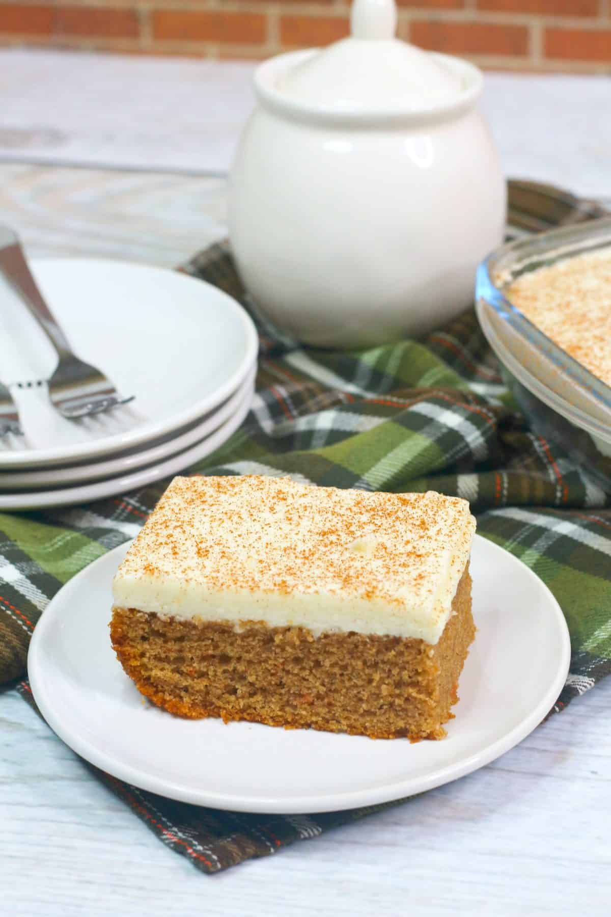 Easter Dessert, carrot cake with cream cheese frosting