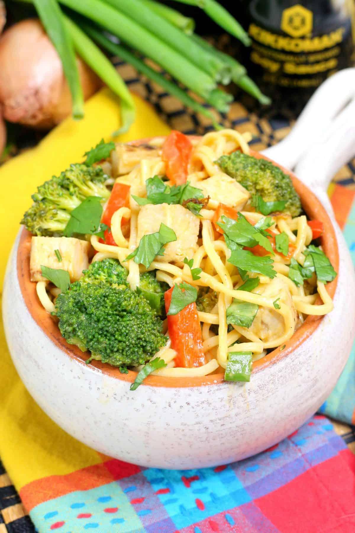 Instant Pot Lo Mein, Chicken Lo Mein