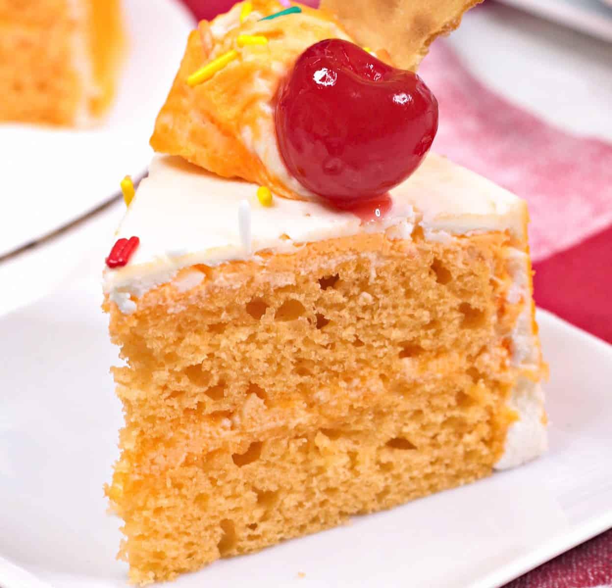 Instant Pot Orange Sherbert Cake