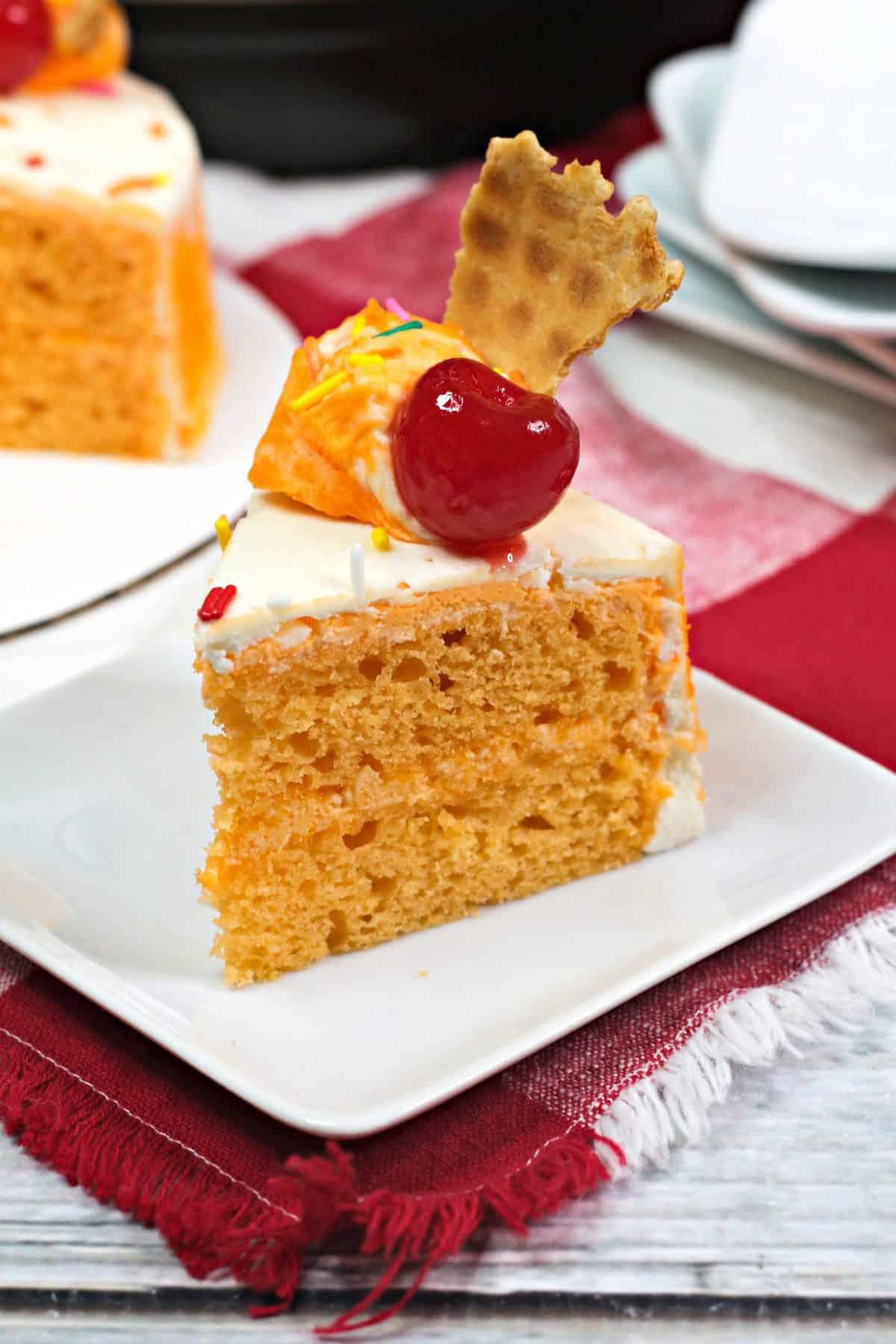 Instant pot orange cake, sherbert cake