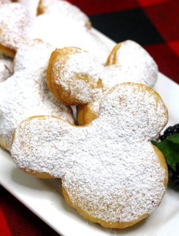 Mickey beignets, homemade beignets