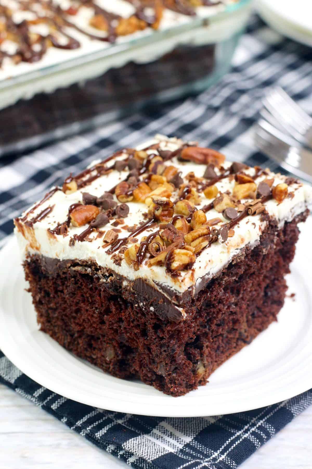 New York Super Fudge Chunk Cake, New York Fudge Cake