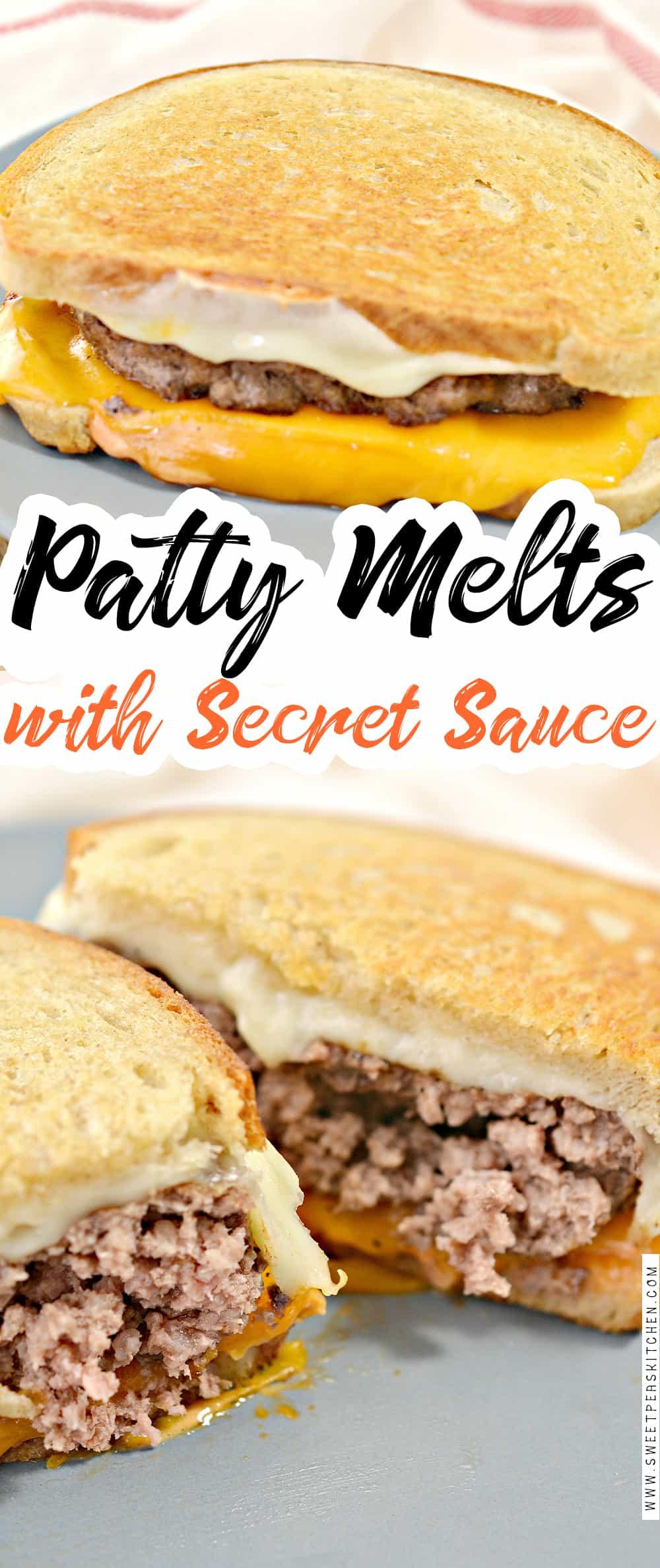 Patty Melts with Secret Sauce