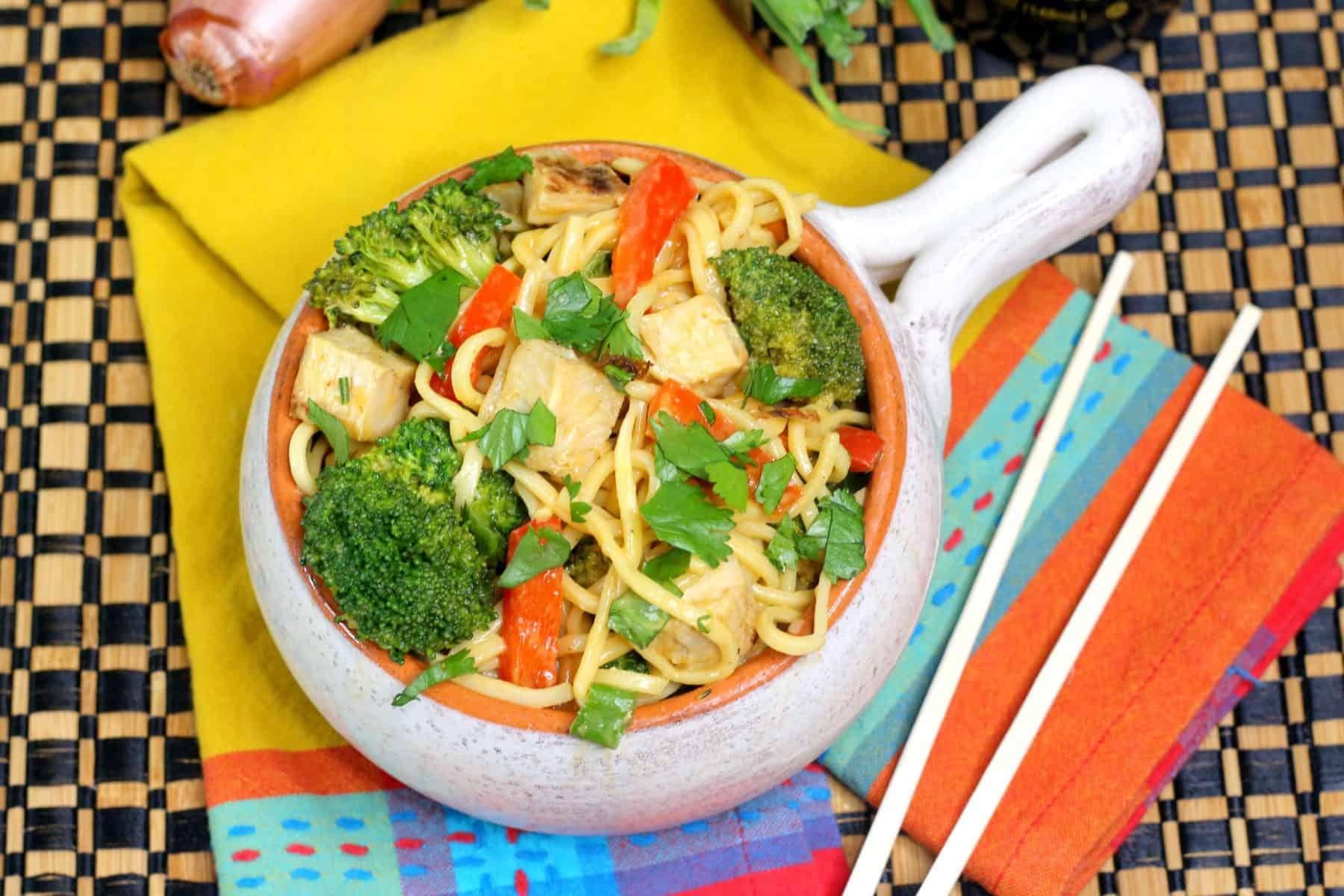 Pressure cooker lo mein, Instant pot low mein recipe