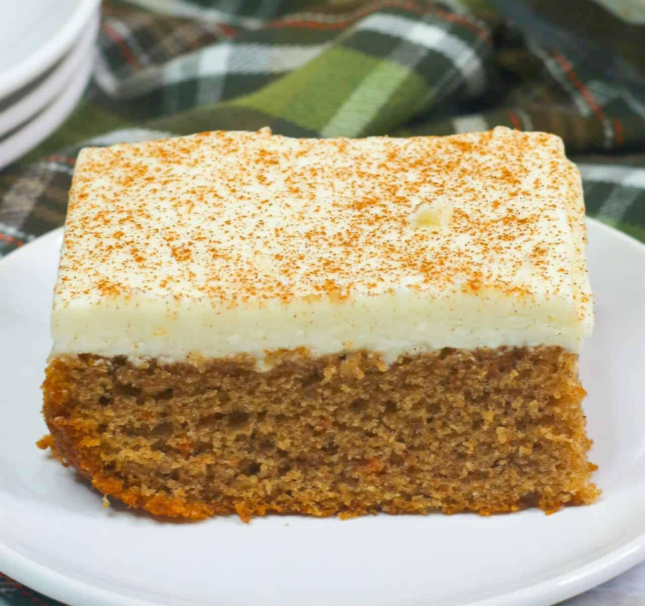 rustic carrot sheet cake