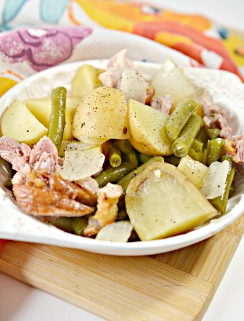 Slow Cooker Ham, Green Beans and Potatoes
