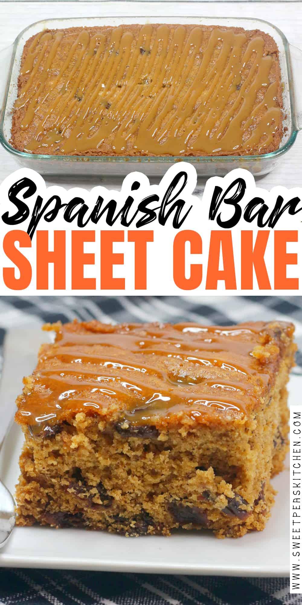Spanish Bar Sheet Cake