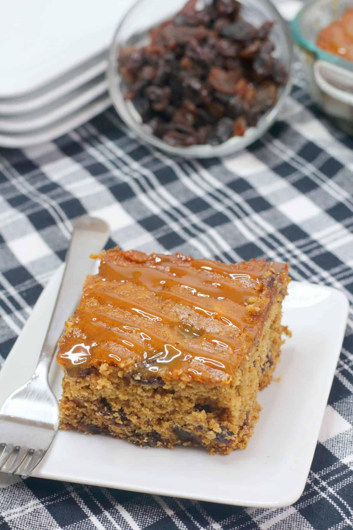 Spanish cake, homemade Spanish cake