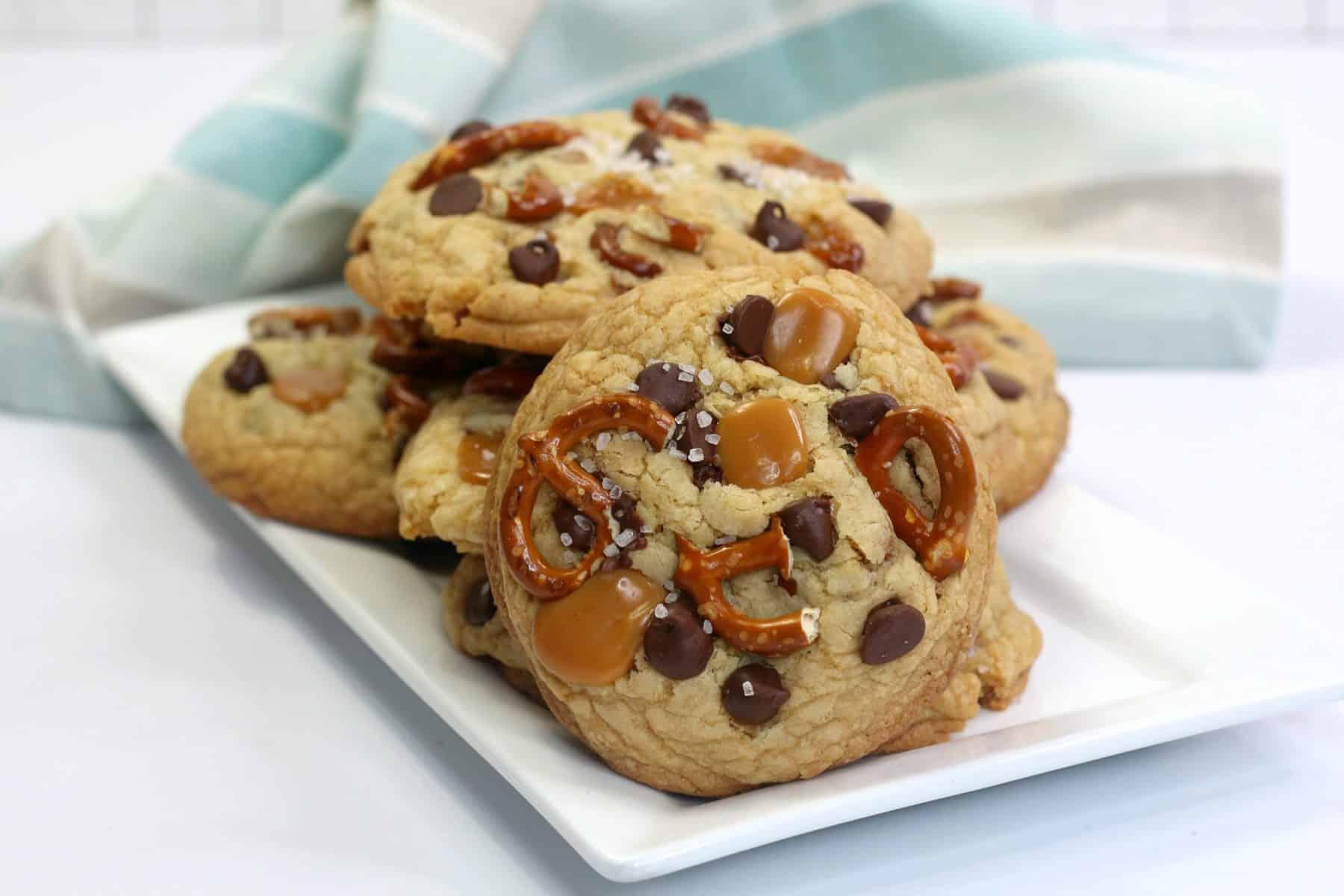 Sweet & salty kitchen sink cookies, salty cookie