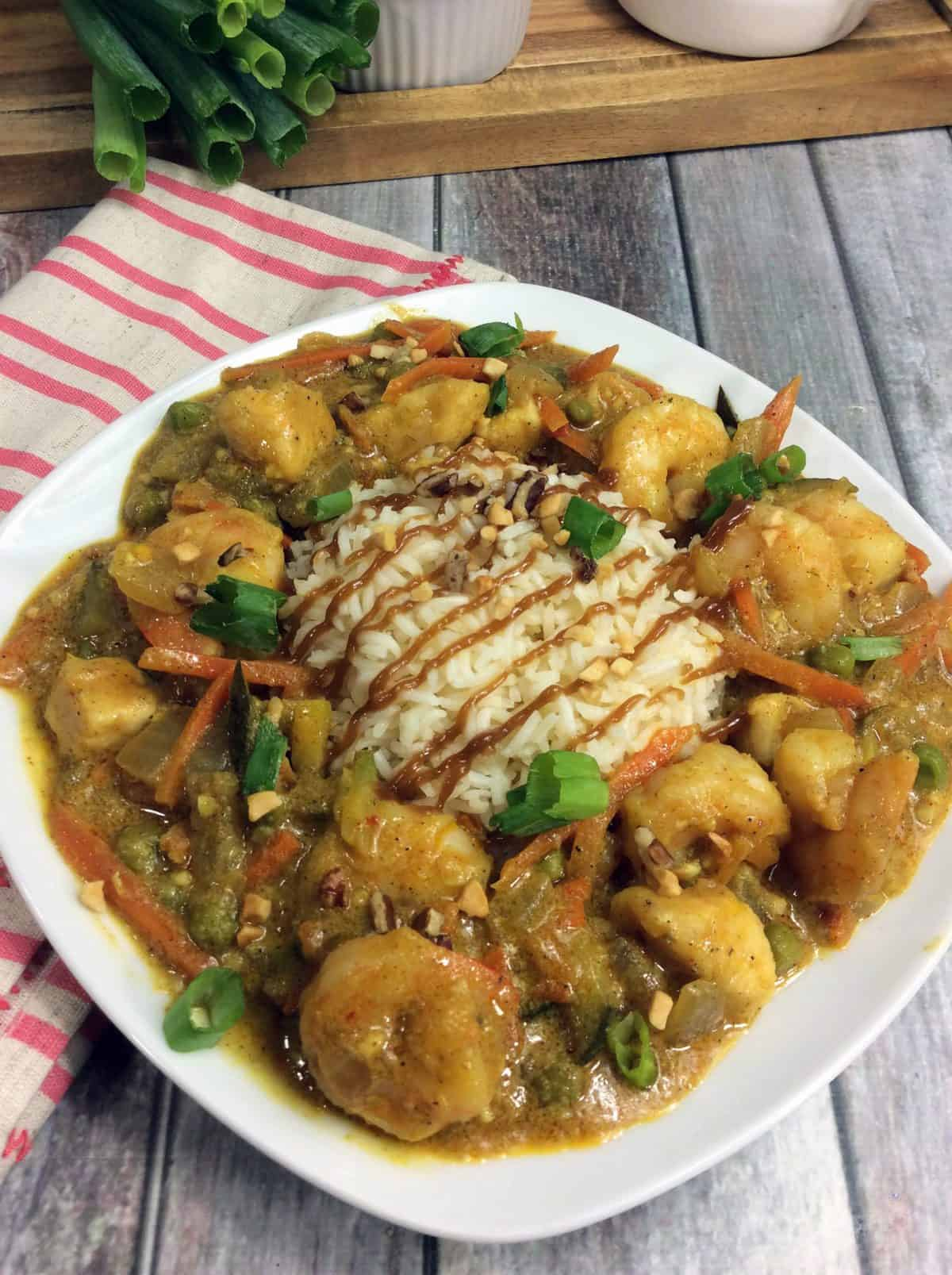 bang bang chicken and shrimp recipe, skillet chicken and rice