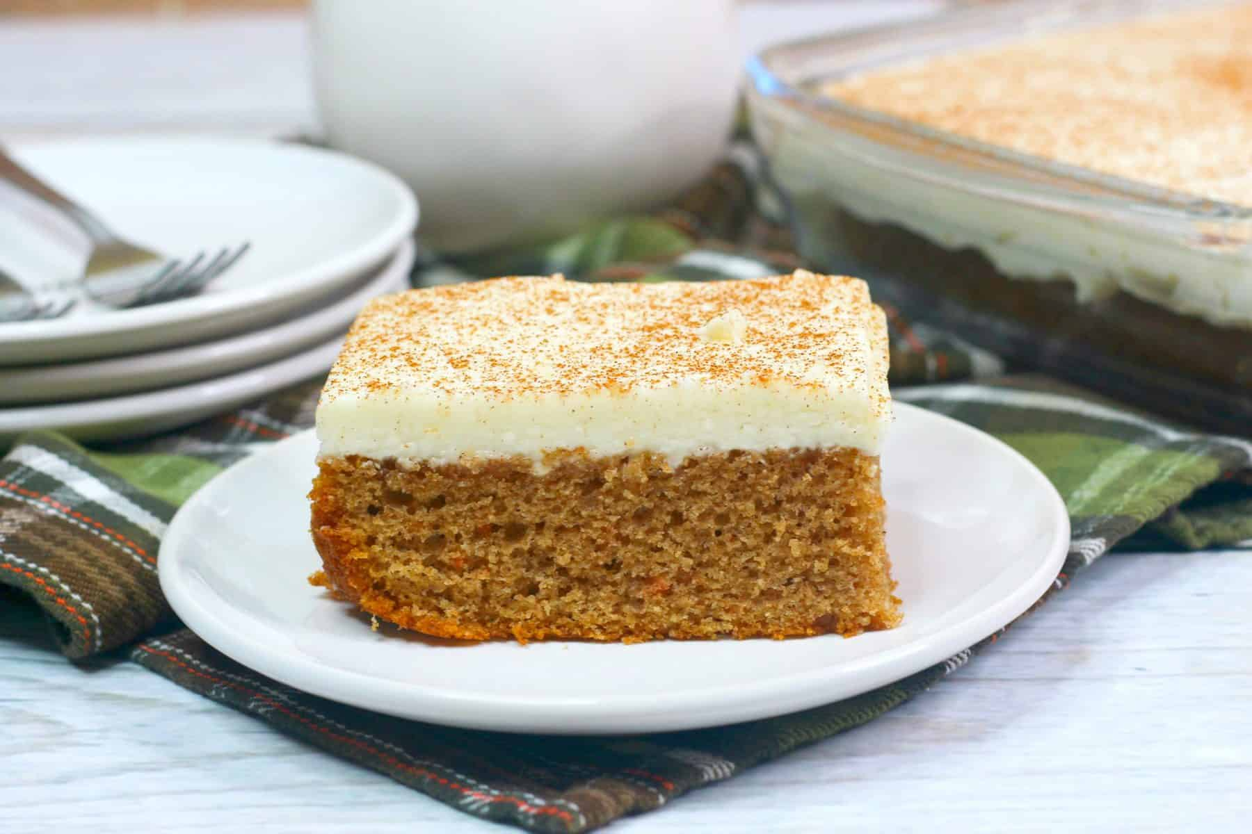 carrot cake with cream cheese frosting, Easter Dessert