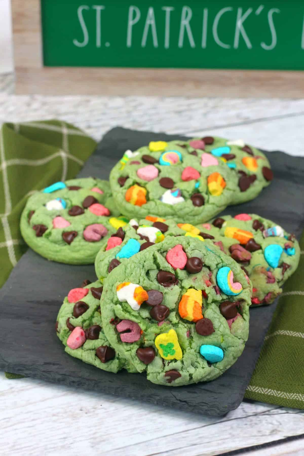 cereal cookies, lucky charms cookie dough
