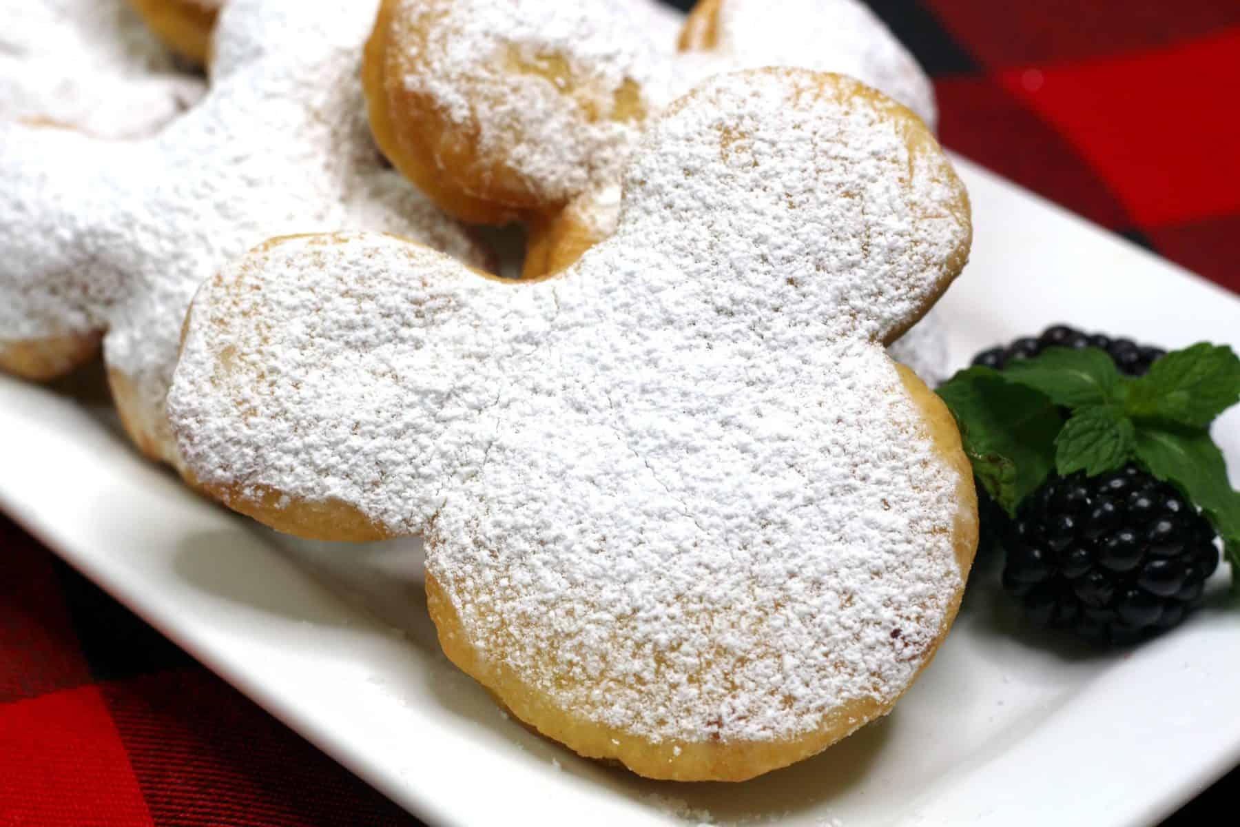 homemade beignets, fried beignets