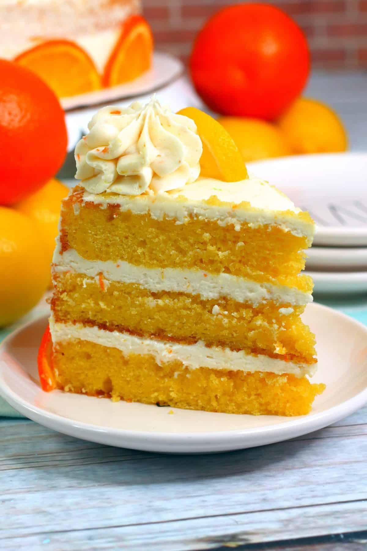 lemon cake recipe, layered lemon orange cake