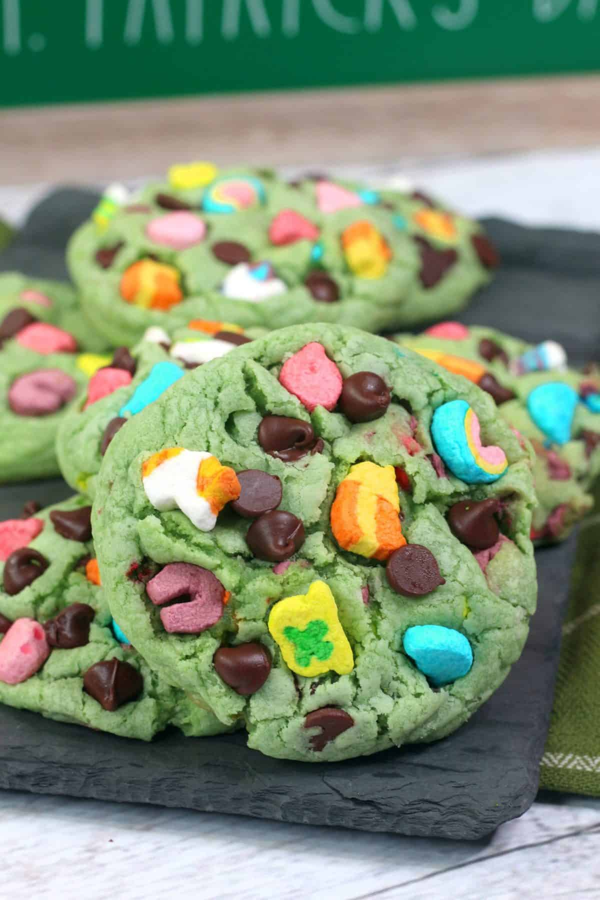 lucky charms cookie dough, St. Patricks Day Cookie Recipe