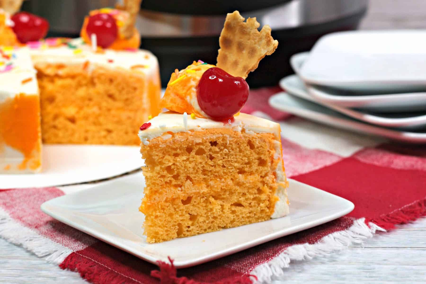 orange cake recipe, Instant pot cake