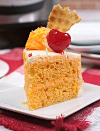 orange sherbert cake, Instant pot cake