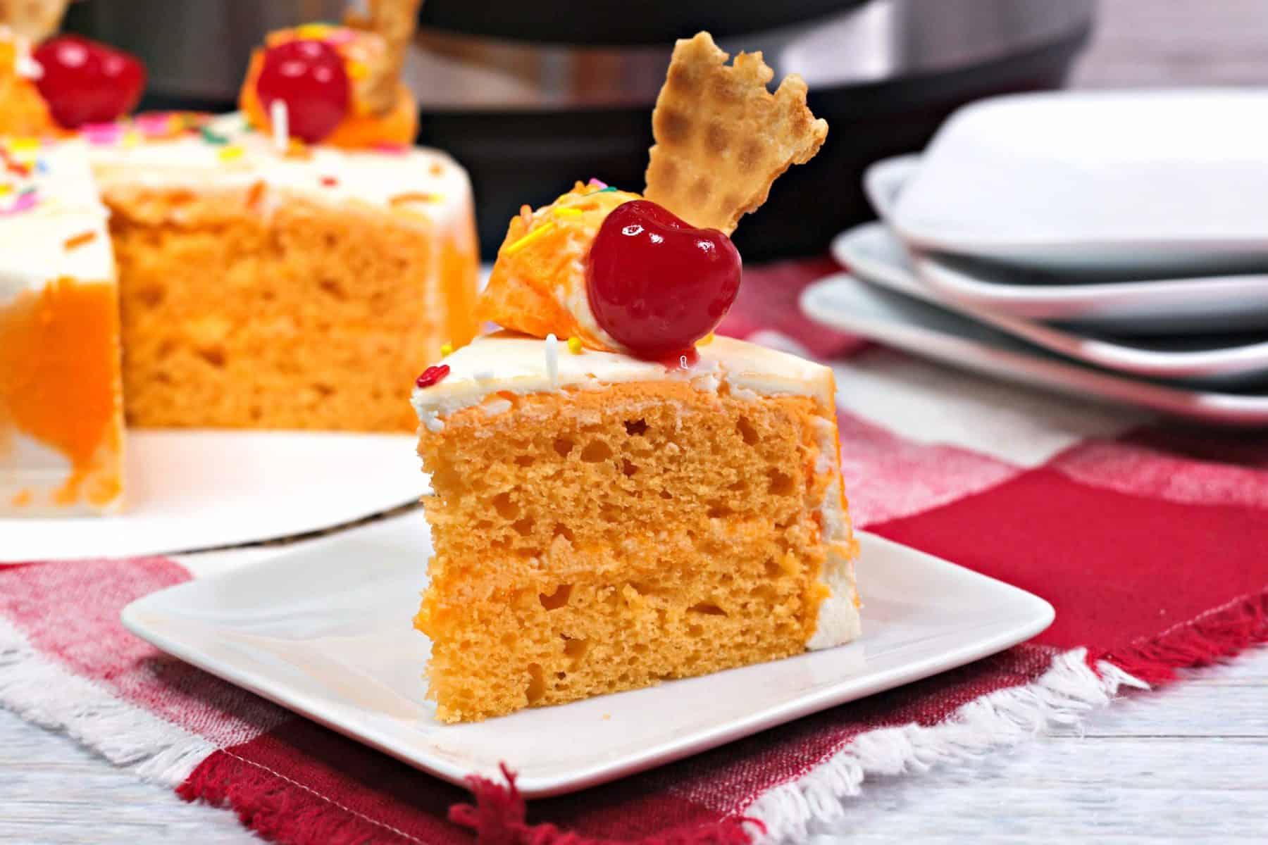 sherbert cake, orange cake recipe